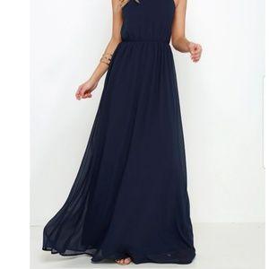 Lulu's Flowy Chiffon Maxi Dress